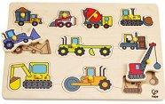 Строителни машини - Детски дървен пъзел - пъзел