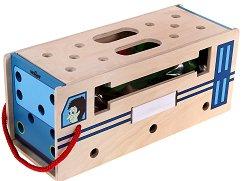 Дървен конструктор 2 в 1 - Автобус - играчка