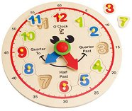 Часовник - Детски дървен пъзел -