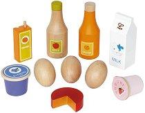 Хранителни продукти - Комплект дървени играчки -