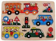 Транспортните средства - Детски дървен пъзел - пъзел