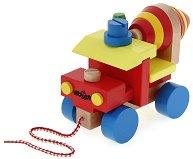 Бетоновоз с инструменти - Детски дървен конструктор - играчка