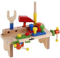 Детска работилница - Комплект дървени инструменти - играчка