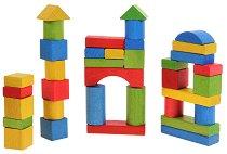 Дървен конструктор - 36 разноцветни части -