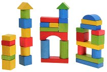 Дървен конструктор - творчески комплект