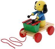 Кученце с ксилофон - Дървена играчка за дърпане - фигура