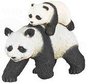 Панда с бебе панда - фигура