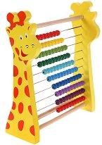 Дървено сметало - Жираф - Образователна играчка - топка