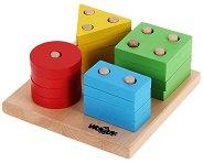 Форми и цветове - Образователна дървена играчка - играчка