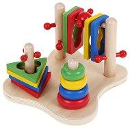 Низанка за моторни умения - Образователна дървена играчка - играчка
