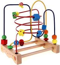 """Голяма цветна градинка с калинка - Дървена играчка от серията """"Лабиринт"""" - творчески комплект"""