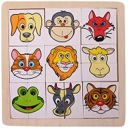 Животни - Детски дървен пъзел - пъзел