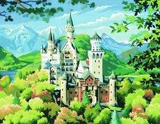 Нарисувай сам шедьовър - Замъкът Нойшванщайн - Творчески комплект - творчески комплект