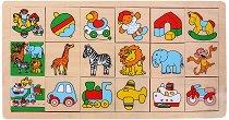 Намери картинката - Дървена играчка - творчески комплект