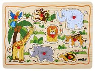 Африканските животни - Детски дървен пъзел - пъзел