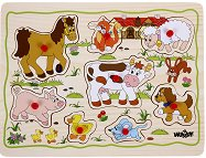 Животните от фермата - Детски дървен пъзел -