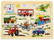 Превозните средства - Детски дървен пъзел - пъзел