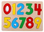 Цифрите - Детски дървен пъзел - пъзел
