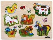 Гласовете на животните - Дървен музикален пъзел - пъзел