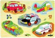 Транспортните средства - Дървен музикален пъзел -