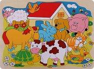 Домашни животни - Детски дървен пъзел - пъзел