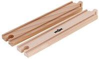 Дървени релси - Комплект от 2 броя -