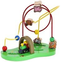 Лабиринт - Веселото влакче - Дървена играчка - играчка