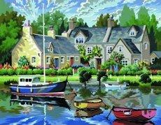 Нарисувай сам - Лодки - Творчески комплект за рисуване с акрилни бои - продукт