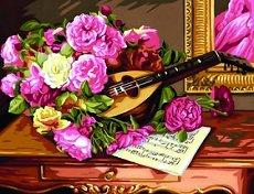 Нарисувай сам шедьовър - Рози - Творчески комплект -