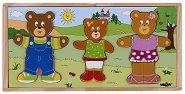 Облечи семейство Мечета - Детски дървен пъзел - пъзел