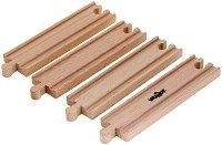 Дървени релси - Комплект от 4 броя - продукт