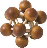 Молекула - 3D дървен пъзел -