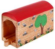 Железопътен тунел - Дървена играчка - играчка