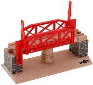 Въртящ се железопътен мост - Дървена играчка - играчка
