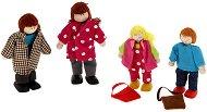 Младо семейство дървени кукли - Комплект от 4 броя -