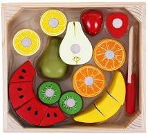 Плодчета - Комплект дървени фигури - играчка