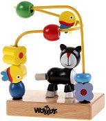 """Коте - Дървена играчка от серията """"Лабиринт"""" - играчка"""