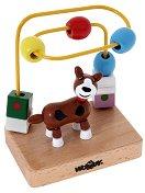 """Куче - Дървена играчка от серията """"Лабиринт"""" - хартиен модел"""