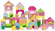 Градина - Детски дървен конструктор - творчески комплект