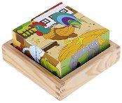 Дървени кубчета - Ферма - Образователна играчка - играчка
