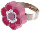 Детско дървено пръстенче - Цвете - творчески комплект