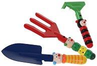 Градински инструменти - Детски комплект от дърво - играчка