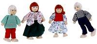 Семейство дървени кукли - Комплект от 4 броя - играчка