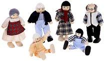 Семейство дървени кукли - Фермери - Комплект от 6 броя - играчка
