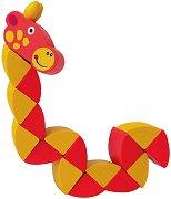 Жираф - Дървена играчка с подвижни елементи - играчка