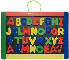 Двустранна магнитна дъска - Образователна играчка с букви - творчески комплект