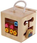 Дървена кутия с игри: Веселото влакче - играчка