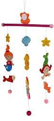 Русалки - Дървена декорация за детска стая - играчка