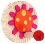 Детска дървена закачалка - Цвете - несесер
