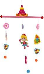 Принцеса - Дървена декорация за детска стая - количка